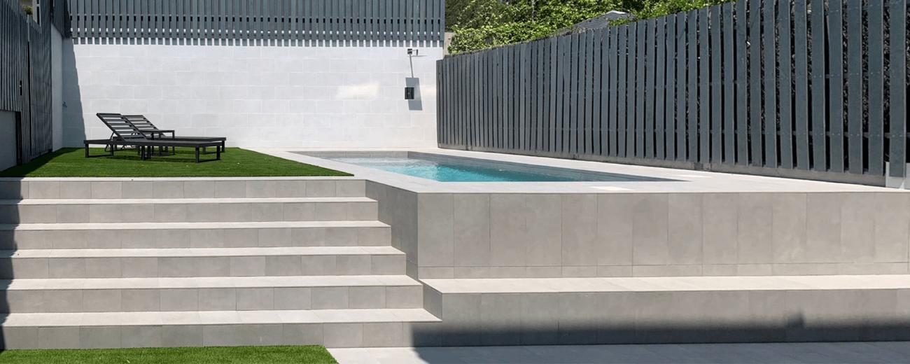 construcción de piscina para Alex Granell